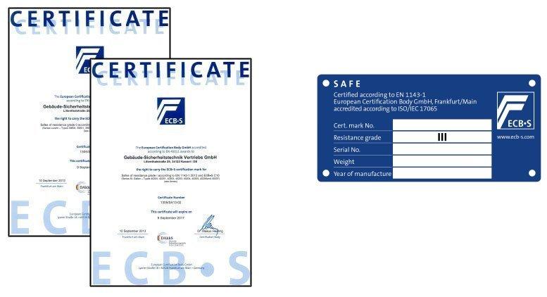 safe test certificate